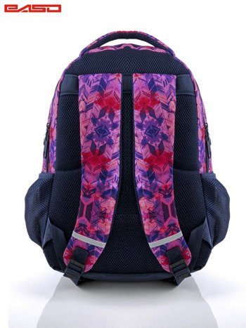 Różowy plecak szkolny dla dziewczynki z etnicznym motywem                              zdj.                              3