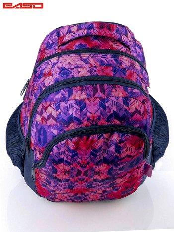 Różowy plecak szkolny dla dziewczynki z etnicznym motywem                              zdj.                              5