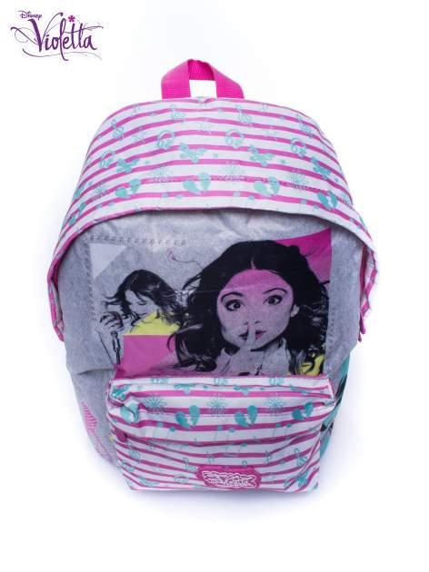 Różowy plecak szkolny w paski DISNEY Violetta                                  zdj.                                  5