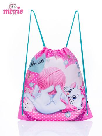 Różowy plecak worek DISNEY kotka Marie                                  zdj.                                  1