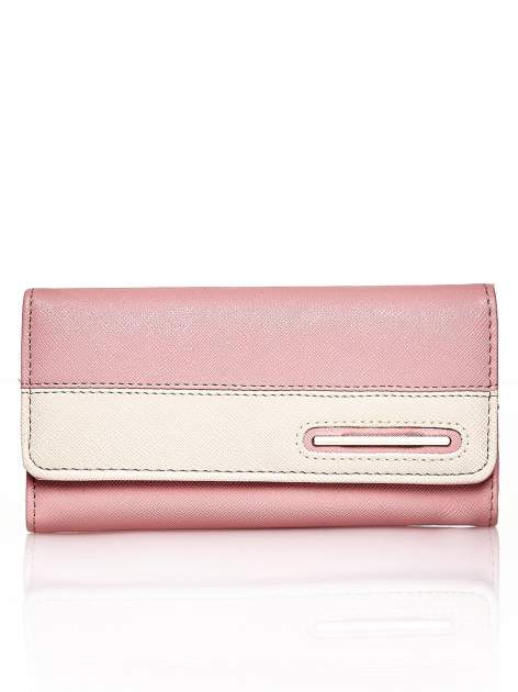Różowy portfel z beżowym wykończeniem                                  zdj.                                  1