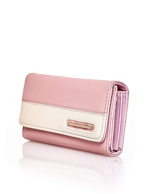 Różowy portfel z beżowym wykończeniem                                  zdj.                                  3