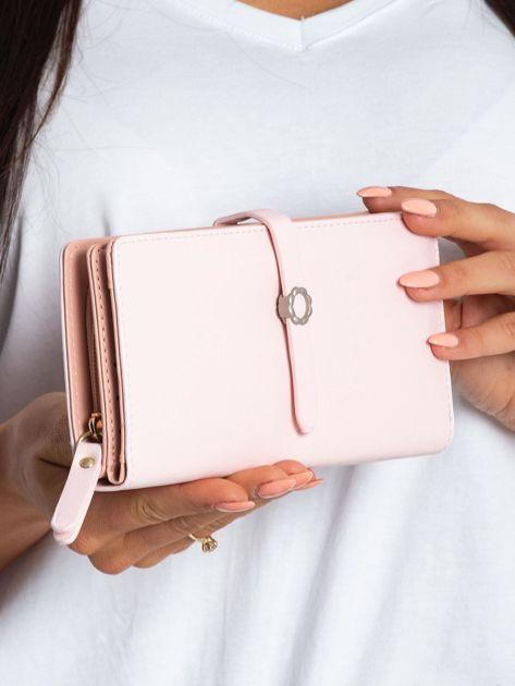 Różowy portfel z ekoskóry                              zdj.                              3