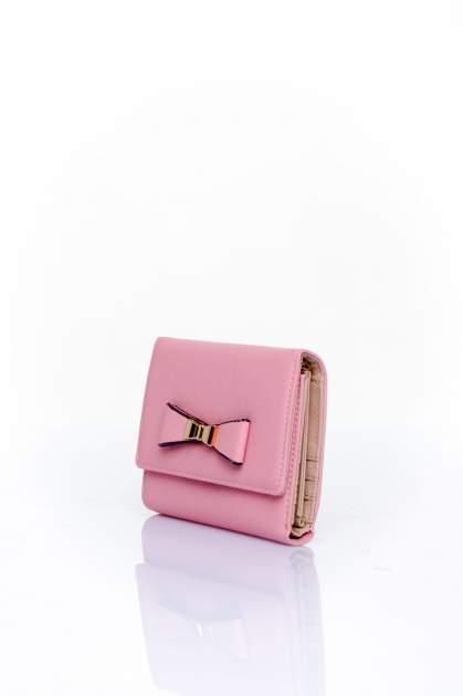 Różowy portfel z kokardką                                  zdj.                                  3