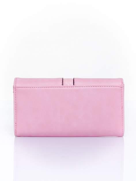 Różowy portfel ze złotym zapięciem                                   zdj.                                  2