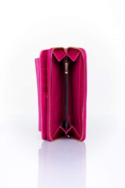 Różowy portfel ze złotym zapięciem                                  zdj.                                  5
