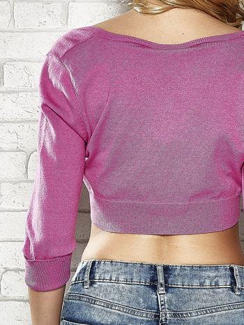 Różowy sweter cropped z guzikami Funk n Soul                                  zdj.                                  6