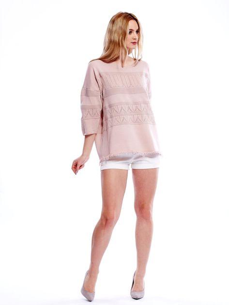 Różowy sweter w delikatny wzór                              zdj.                              8