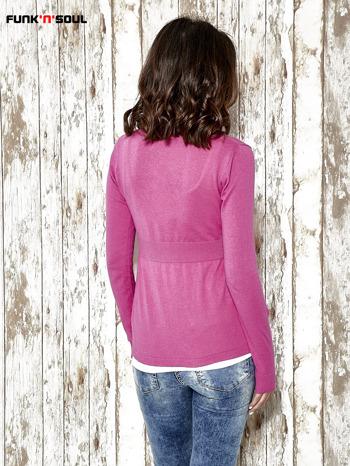 Różowy sweter zapinany na guziki Funk n Soul                                  zdj.                                  4