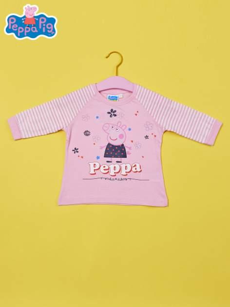 Różowy t-shirt dla dziewczynki ŚWINKA PEPPA                                  zdj.                                  1