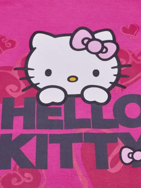 Różowy t-shirt dla dziewczynki z motywem HELLO KITTY                                  zdj.                                  4