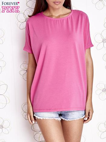 Różowy t-shirt oversize                                  zdj.                                  1
