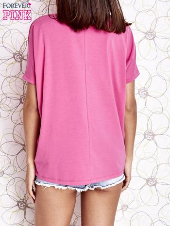 Różowy t-shirt oversize                                  zdj.                                  5