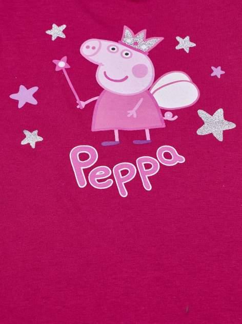 Różowy t-shirt z falbankami na rękawach dla dziewczynki ŚWINKA PEPPA                                  zdj.                                  4
