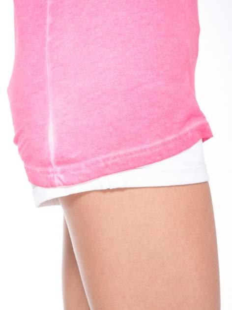 Różowy t-shirt z nadrukiem GUNS N' ROSES                                  zdj.                                  7