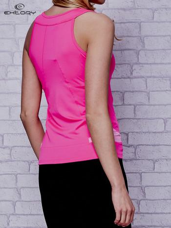 Różowy top sportowy na fitness                                  zdj.                                  4