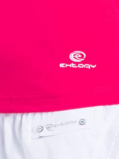 Różowy top sportowy z białą wstawką                                  zdj.                                  4