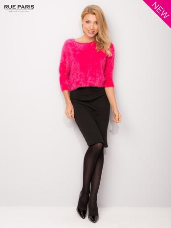 Różowy włochaty sweter z rękawami 3/4                                  zdj.                                  3