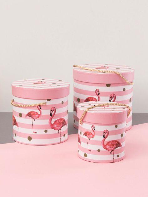 Różowy zestaw pudełek we flamingi                              zdj.                              1