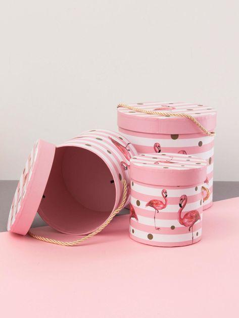 Różowy zestaw pudełek we flamingi                              zdj.                              3