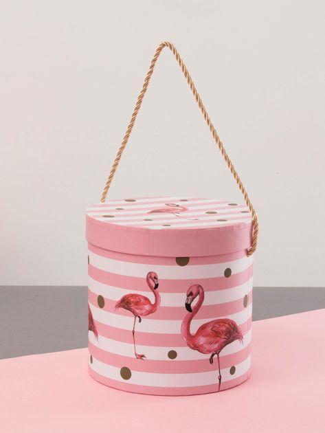 Różowy zestaw pudełek we flamingi                              zdj.                              7