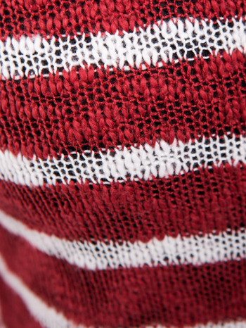 Rozpinany kardigan z kieszeniami w biało-czerwone paski                                  zdj.                                  7