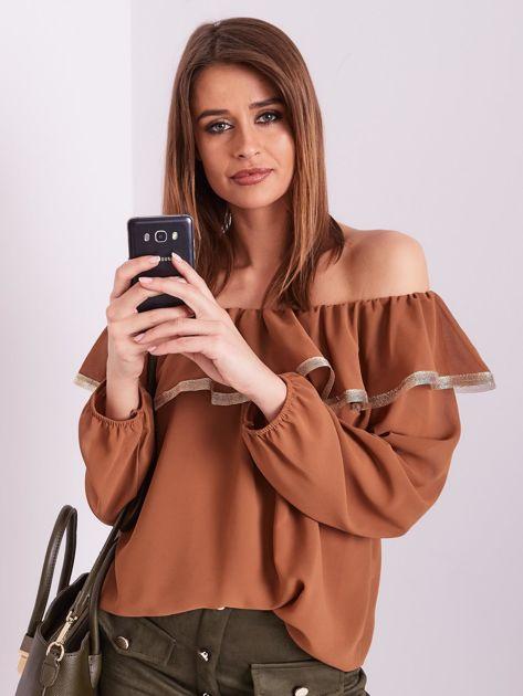 SCANDEZZA Brązowa bluzka hiszpanka                              zdj.                              6