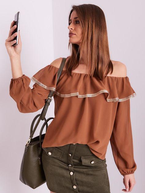 Brązowa bluzka hiszpanka                              zdj.                              7
