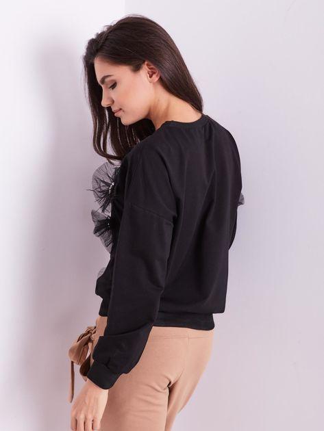 Czarna bluza z aplikacją                              zdj.                              6