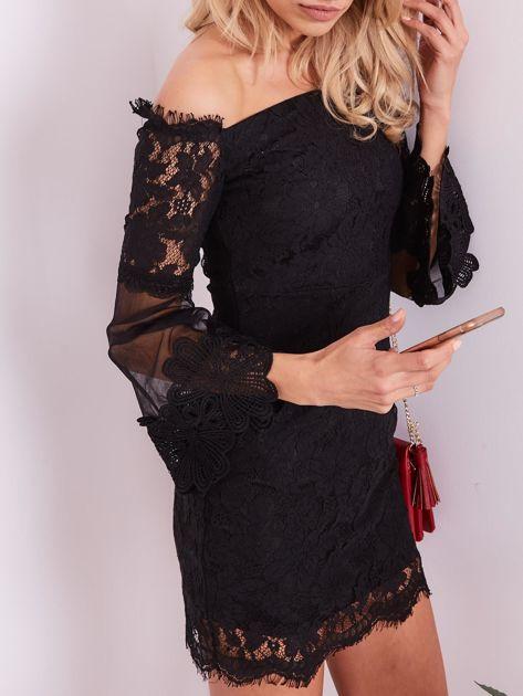 SCANDEZZA Czarna koronkowa sukienka                              zdj.                              6