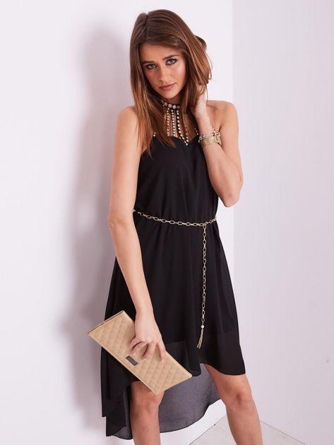Czarna sukienka z aplikacją                              zdj.                              8