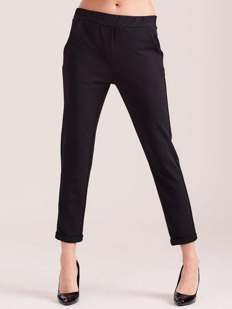 SCANDEZZA Czarne damskie spodnie                              zdj.                              3