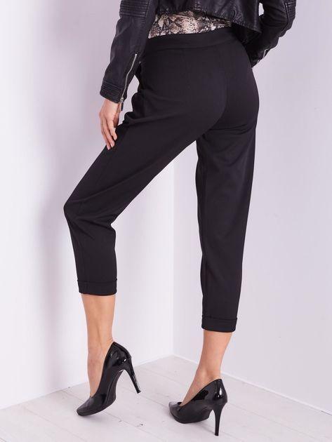 SCANDEZZA Czarne spodnie cygaretki                              zdj.                              5