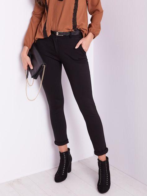 Czarne spodnie damskie                              zdj.                              2