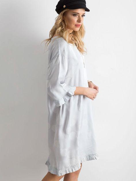 Sukienka we wzory szara                               zdj.                              3