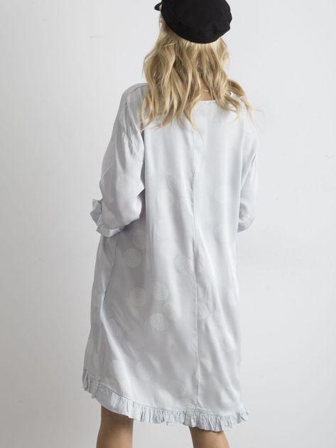 Sukienka we wzory szara                               zdj.                              2
