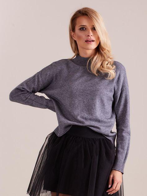SCANDEZZA Szary sweter damski                              zdj.                              4