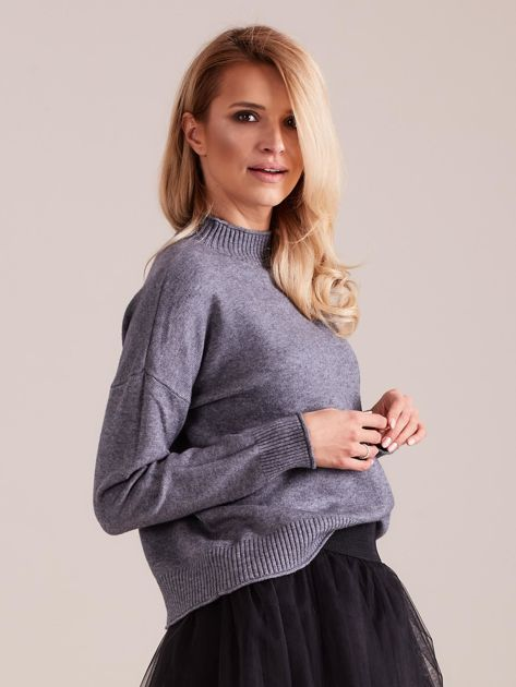 Szary sweter damski                              zdj.                              5