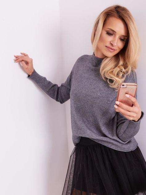 Szary sweter damski                              zdj.                              8