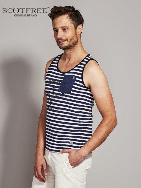 SCOTFREE Granatowy top męski w marynarskim stylu                                  zdj.                                  3