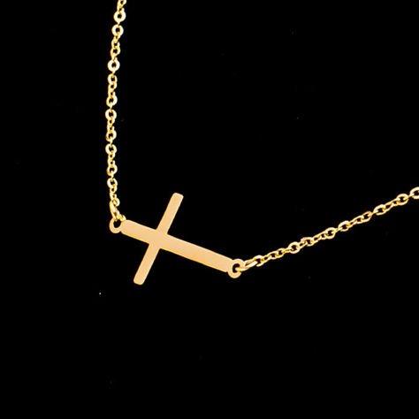 STAL CHIRURGICZNA 316L Złoty Naszyjnik Biały Różaniec Krzyż                              zdj.                              6