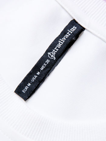 STRADIVARIUS Biała bluza fakturowana z zamkami                                  zdj.                                  3