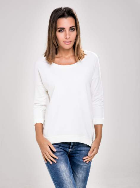 STRADIVARIUS Biała bluza z zamkami