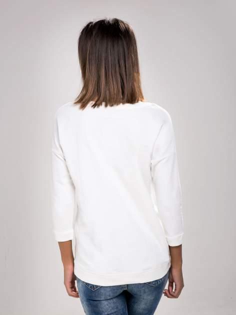 STRADIVARIUS Biała bluza z zamkami                                  zdj.                                  2
