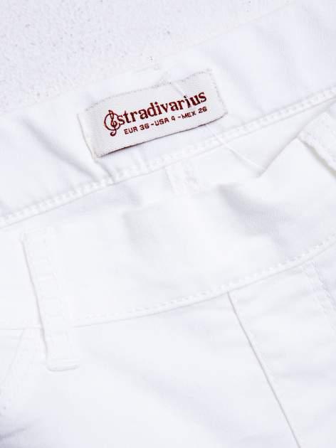 STRADIVARIUS Białe spodnie skinny typu jegginsy                                  zdj.                                  3