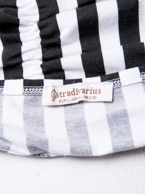 STRADIVARIUS Bralet w biało-czarne paski                                  zdj.                                  3