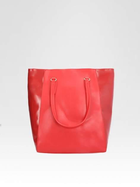 STRADIVARIUS Czerwona torba shopper bag