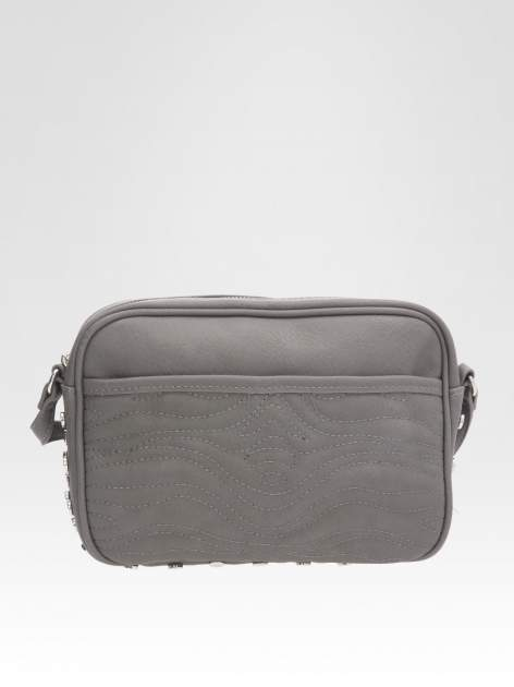 STRADIVARIUS Szara torebka z dżetami