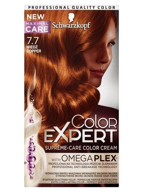 Schwarzkopf Color Expert Krem koloryzujący do włosów nr 7.7 Miedź