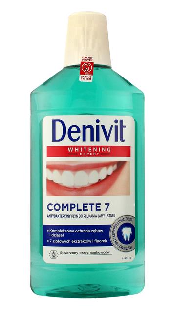 "Schwarzkopf Denivit Płyn do płukania jamy ustnej Complete 7 Whitening 500 ml"""